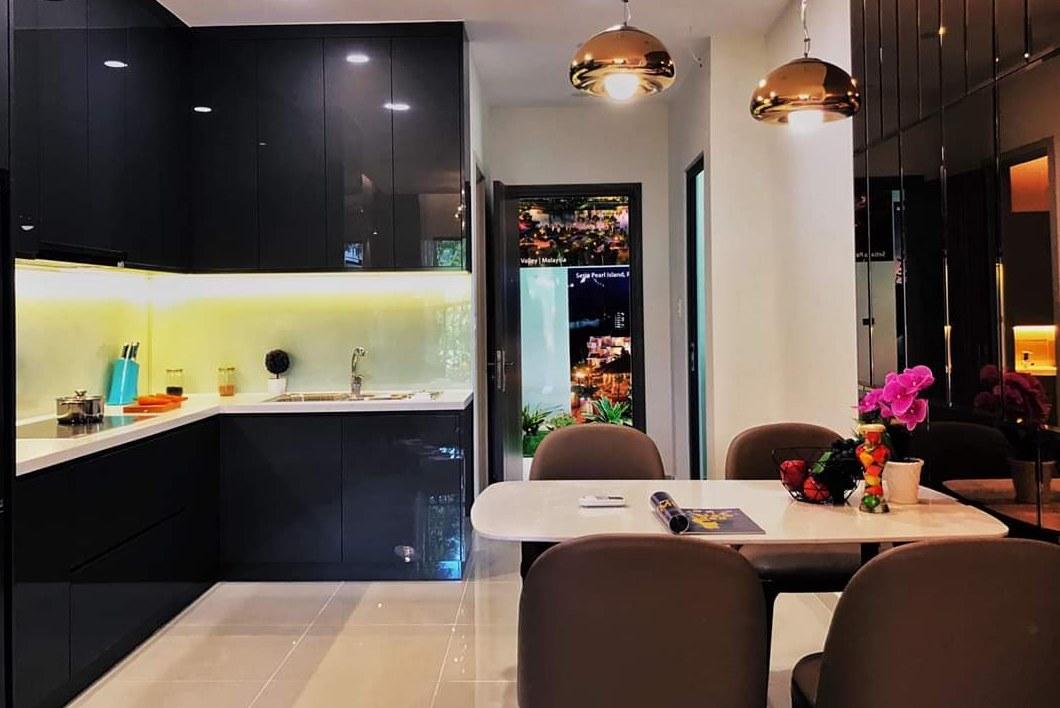Nhà bếp căn hộ mẫu